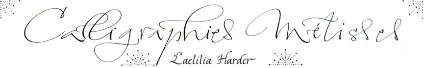 Laetitia Harder, Calligraphe à Paris