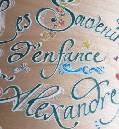 etiquette alcool calligraphe paris